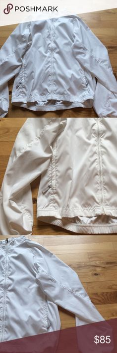 Great Adidas White Jacket In great condition! Never worn. White adidas jacket. Waterproof. Great for all outdoor activities! Great windbreaker jacket. adidas Jackets & Coats