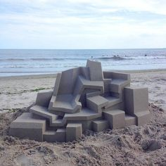 This impossibly smooth sand sculpture: