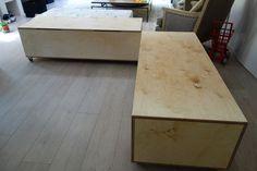 Birch Plywood storage benches