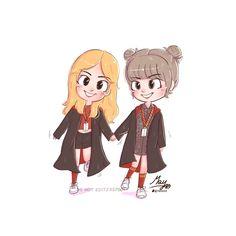 [FA] Welcome Gryffindor 💜💙🐥🐱  Jennie Lisa, Blackpink Lisa, Macbook Wallpaper, Blackpink Photos, Blackpink Fashion, Kpop Fanart, Cute Cartoon Wallpapers, Cute Images, Korean Girl Groups