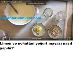 LİMON VE NOHUTTAN YOĞURT MAYASI NASIL YAPILIR Bottle, Food, Islam, Amigurumi, Meal, Flask, Essen, Hoods, Meals