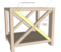 Use plans for building mullion on cabinet does - Rustic X End Table
