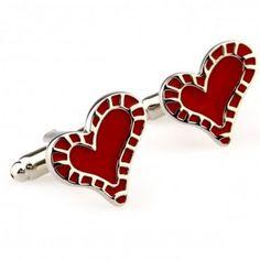 #Red #Hearts #cufflinks #cufflinkspalace