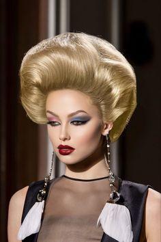 Valentino, Bouffant Hair, Fluffy Hair, Hair Brained, Retro Hairstyles, Big Hair, Updos, Bridal Hair, Wigs