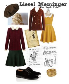 """Liesel Meminger - The Book Thief"" by emmalovesdisney456 ❤ liked on Polyvore featuring Robert Clergerie, J.Crew, Betmar, SonyaRenée and plus size dresses"