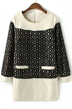 Lace Embellishment Tunic Dress OASAP.com