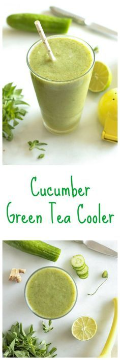 Enjoy a healthy and refreshing Cucumber Green Tea Cooler