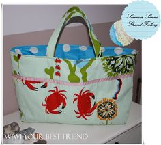 shopping + beach bag