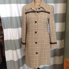 i.e. Coat with Leather accent Gorgeous lightweight coat from i.e. With leather accents across chest, cuffs and buttons. Front button closure. i.e.  Jackets & Coats