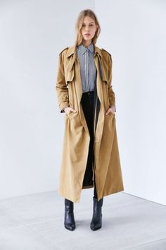 Neon Rose Trench Coat - Urban Outfitters