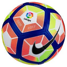 NIke Football Strike La-League Football Sports Soccerball multicolore (blanc / orange / bleu / noir) Taille: Brand New With Tags. Suitable for Adults - Available in Multiple Sizes. Nike Football, Ronaldo Football, Football Strike, Liga Soccer, Cr7 Messi, France Football, Nike Gear, Soccer Outfits, Decal