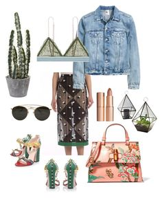 """""""I love you with Cactus Feelings"""" by mariakatareeena ❤ liked on Polyvore featuring Marco de Vincenzo, Gucci, LoveStories, Ray-Ban, Charlotte Tilbury, succulents and cacti"""