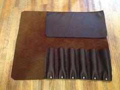 Medium Leather knife roll van BoardLeather op Etsy
