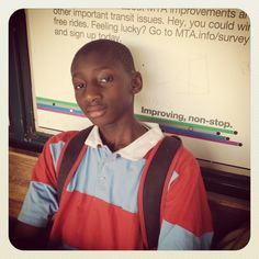 This young man has something to say. #CitizenSchools #CitizenTeacher #Storytelling #Bronx #Us