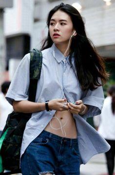 Korean Street Fashion, Asian Fashion, Girl Fashion, Fashion Outfits, Fashion Design, Fashion Trends, Korea Street Style, Looks Style, Style Me