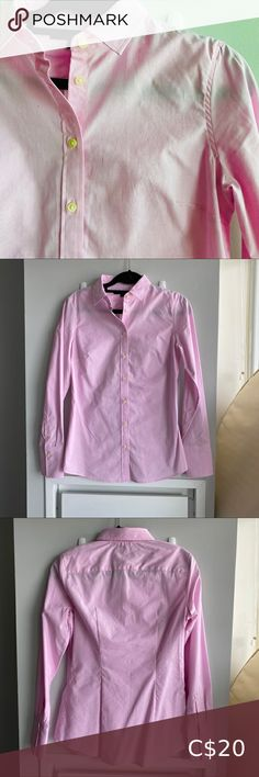 Banana republic women's button up shirt Pink Riley dress shirt from Banana Republic. Pictures show multiple shades but it's a light pink with a slightly purple hue. Really flattering and slim fit, fits a bust. Banana Republic Tops Button Down Shirts Republic Pictures, Purple Hues, Banana Republic Women, Dress Shirt, Colorful Shirts, Hooded Jacket, Button Up Shirts, Shades, Buttons