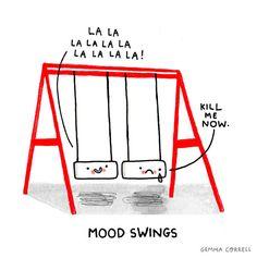 mood swings by gemma correll, via Flickr