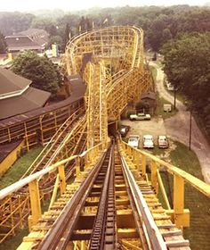 One of the best roller coasters ever: The Wildcat at Idora Park in Youngstown, Ohio.  Closed forever in 1984