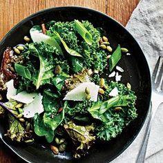 Lemony Kale Salad Recipe | MyRecipes.com meer met boerenkool ;-)