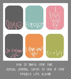 How to Make Your Own Project Life Journal Cards
