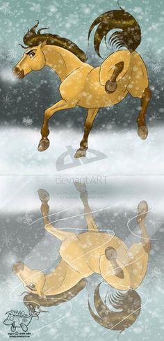 Spirit: Stallion Of The Cimarron Fan Art: Spirit. Would be a neat bookmark!