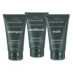 Gaia Made for Men Face and Body Kit by Gaia Skin Naturals - Made for Men. $34.99. Certified organic face and body kit for men. Contains face shampoo, conditioner, and body scrub. Invigorates skin and scalp. Full-size, 5.3-ounce containers. Made by Gaia Skin Naturals. Give your skin and scalp the treatment they deserve with the shampoo, conditioner, and body scrub in the Gaia Made for Men Face and Body Kit. Ideal for the discerning, distinguished gentleman, this ki...