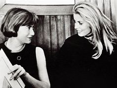 Catherine Deneuve with Françoise Sagan
