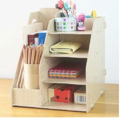 School and office supplies / Wooden Stationery Holder / File Tray / magazine rack / office racks / Desk Accessories & Organizer with Free Shipping  have discount 9.0% Off sales