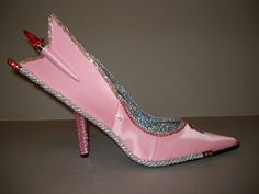 """""""AutoMoHeels """" inspired by a 1957 Pink Cadillac. High heel shoe sculpture by SoleSensations on Etsy"""