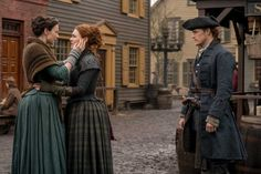 'Outlander' Recap: Season 4 Episode 9 Jamie and Brianna Meet - TVLine 'Outlander' Recap: Season 4 Episode 9 Jamie and Brianna MeetTVLine 'Outlander' episode recap: Claire and Jamie overjoyed in 'The Birds and the Bees' Jamie Fraser, Claire Fraser, Jamie And Claire, Outlander Casting, Outlander Tv Series, Outlander Novel, Outlander Knitting, Books, Nice