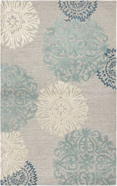 Living Room  Rugstudio.com  RIzzy Dimensions DI-2241 Light Gray Area Rug  (largest is 9x12)