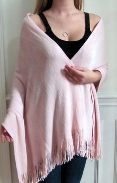 pink soft knit wraps also available in practically any other color such a wide variety of winter wrap shawls.