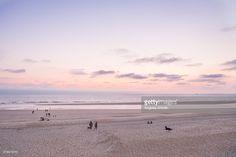 Stock-Foto : Sunset at Mimizan Beach, Les Landes, France @AngelesAntolin.