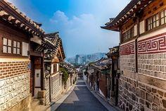 HANOK , casa tradicional da Coreia.