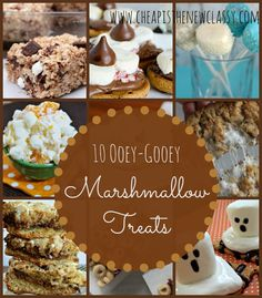 Do you like marshmallow treats?  From smores to cookies and from Rice Krispie Treats to cerealbars, check out 10 ooey-gooey marshmallow treats recipes