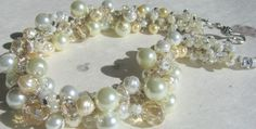 Pearl Crystal Statement Bridal Wedding REGENCY by SerebaDesigns,