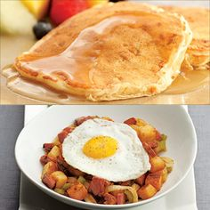 Which is a healthier breakfast: pancakes or eggs?
