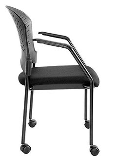 03983c62fa8 Eurotech Seating Breeze 4 Leg Side Chair with Casters Frame Color  Black.  Corner Daniels · Office Chair