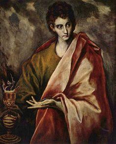 Иоанн Богослов. 1595-1605 гг. Музей Прадо, Мадрид.