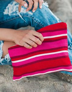 Travel bag from @The Little Market made from handwoven textiles