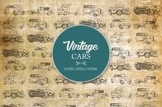 I am pleased to introduce the Vintage Cars Vectors. This set includes: A composite image ( AI, PDF, PNG, JPG) 2 x Seamless Patterns (AI) 6 x Vector Vintage Cars Car Vector, Web Design Tutorials, Handwritten Fonts, Lovers Art, Graphic Illustration, Vintage Cars, Printing On Fabric, Your Design, Brave