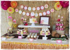 Tania R's Birthday / Luau, Hawaiian, Tiki - Photo Gallery at Catch My Party Aloha Party, Hawaiian Luau Party, Hawaiian Birthday, Luau Birthday, Tiki Party, Birthday Party Themes, Birthday Ideas, Luau Bridal Shower, Luau Baby Showers