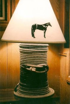 Lamp I made using actual rope instead of twine.