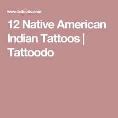 12 Native American Indian Tattoos   Tattoodo