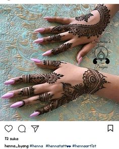 Mehndi Design Ideas For Girls - Henna Hand Designs, Pretty Henna Designs, Modern Mehndi Designs, Mehndi Designs For Fingers, Henna Tattoo Designs, Tattoo Ideas, Arabic Henna Designs, Mehandi Designs, Henna Tattoo Hand