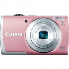 Canon PowerShot A2600 IS 16.0 MP Digital Camera with 5x Optical Zoom and 720p Full HD Video Recording (Pink) | My Canon Digital Camera