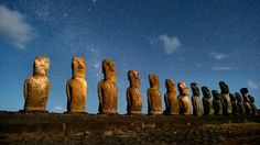 10 most iconic places to photograph. Jim Richardson from National Geographic Traveler shares his global 'bucket list' of iconic places to photograph. At number 5 Easter Island with its statues evocative of an ancient world. Photo: Tongariki with the long row of moai looming above. See the list in full at NationalGeographic.com