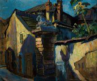 Kuba Ludvík - Městské zákoutí Prague Czech, European Countries, Czech Republic, Impressionism, Fine Art, Landscape, Drawings, Building, Painting