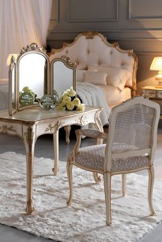 Make your mark with the Small Ornate Italian Designer Dressing Table Set the most stunning of additions to any bedroom setting. Add style and opulence to any interior! Luxury Bedroom Furniture, Home Furniture, Furniture Design, Furniture Stores, Furniture Removal, Cheap Furniture, Bathroom Furniture, Bathroom Interior, Rustic Furniture