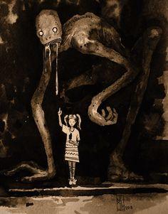 arte oscuro Visual Necromancy: The Amazing Art By Boris Groh Creepy Drawings, Dark Art Drawings, Fantasy Kunst, Dark Fantasy Art, Dark Art Illustrations, Illustration Art, Images Terrifiantes, Arte 8 Bits, Horror Drawing